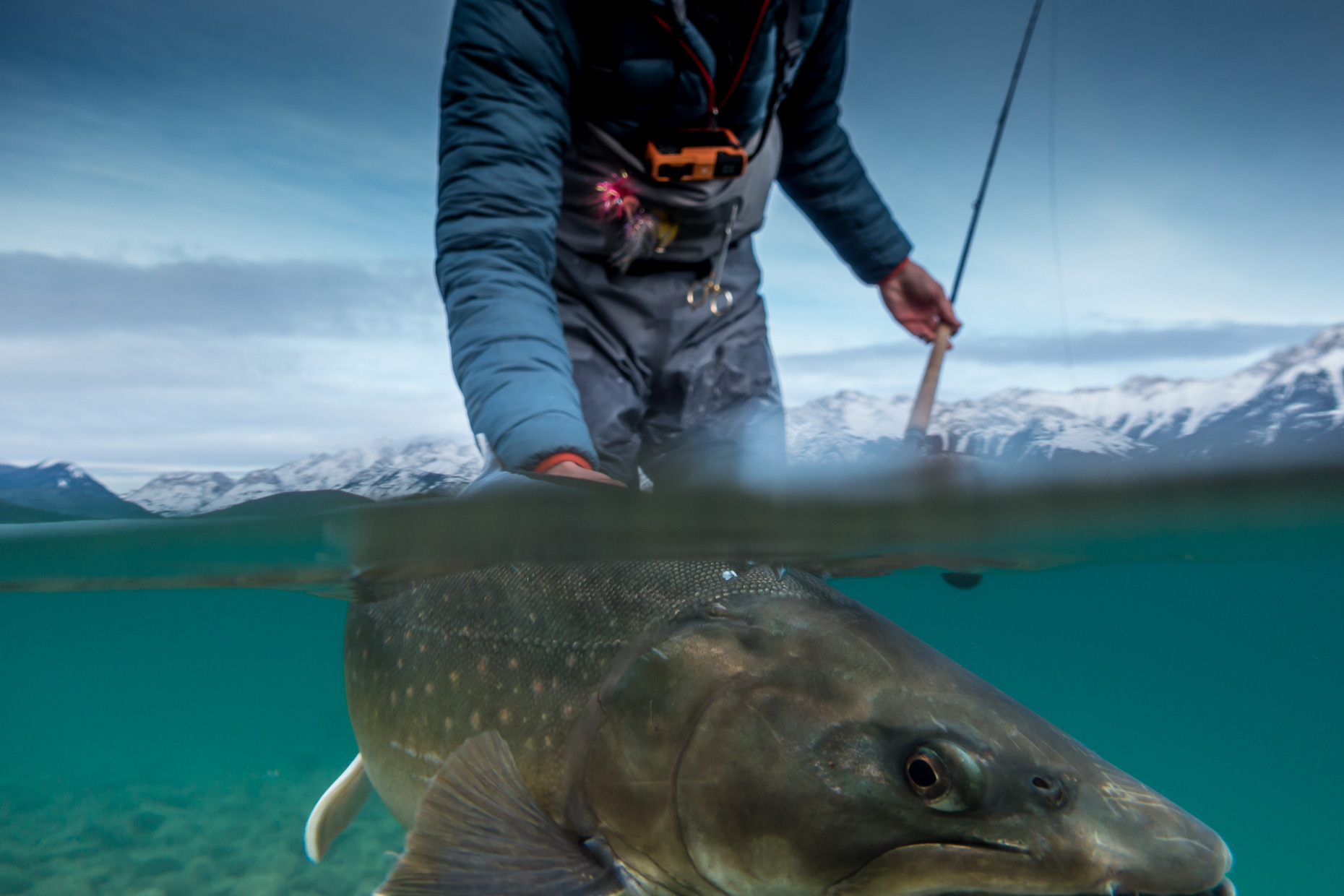 Fly Fishing winter Sun Peaks Photography