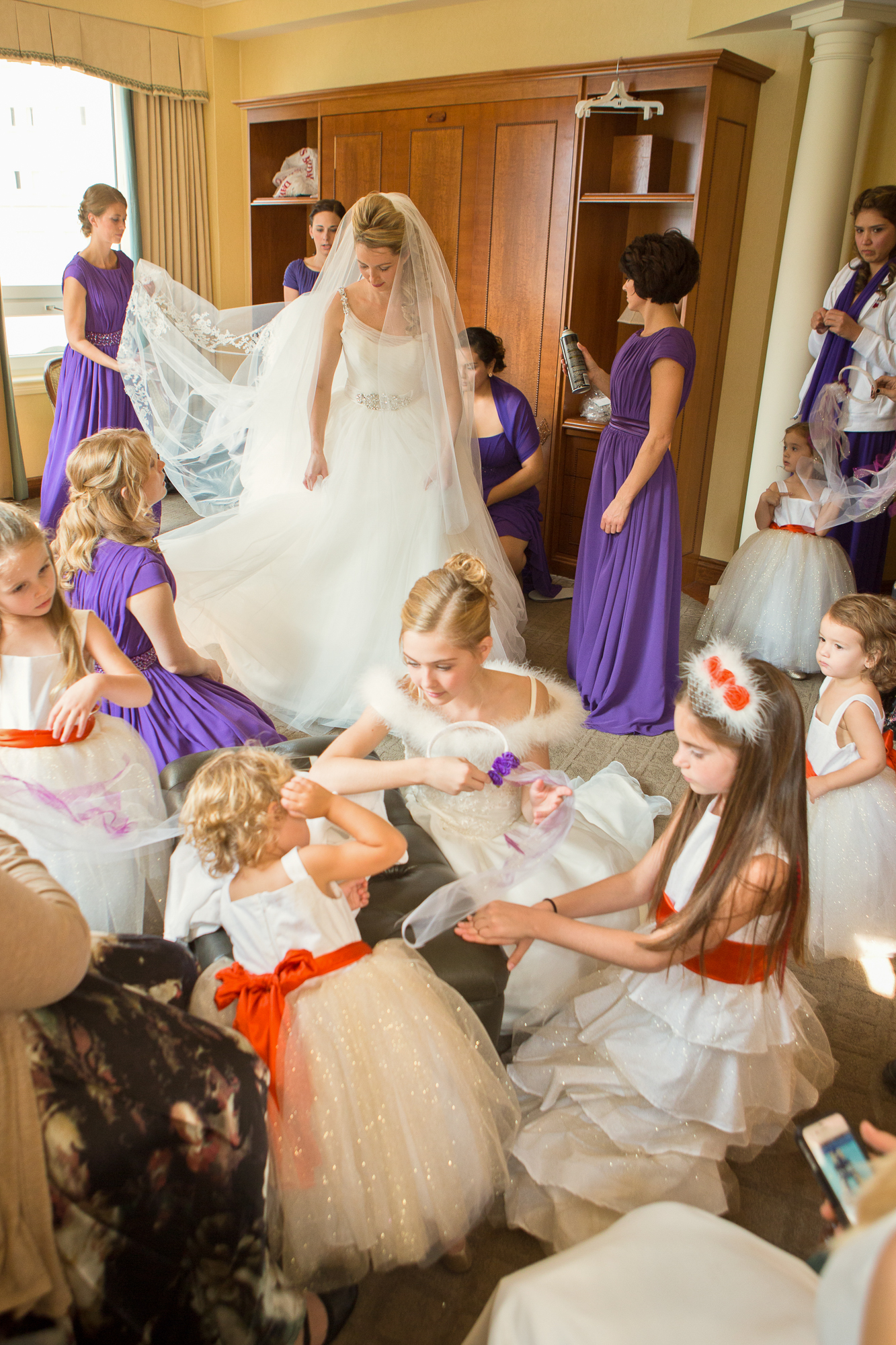 Wedding  Wedding Classic bride and brides maids Chateau Lake Louise Sun Peaks Photography
